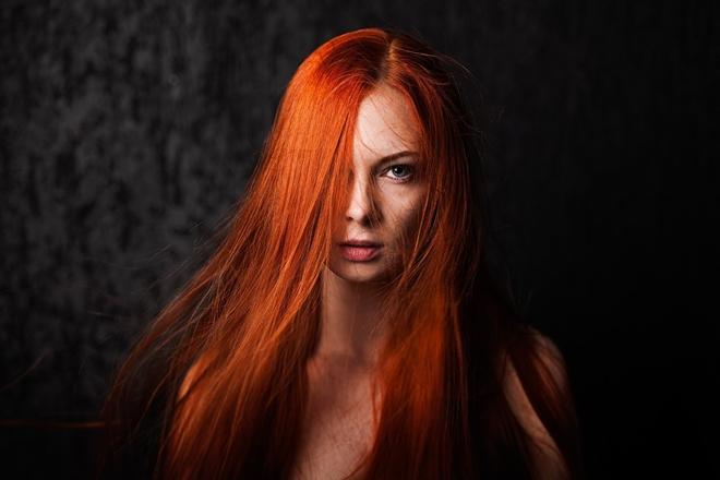 Kısa Kızıl Saç Modelleri Yapımı 5